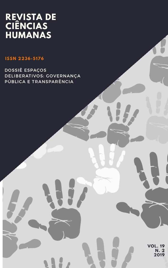 Visualizar n. 2 (2019): Espaços deliberativos: Governança Pública e Transparência